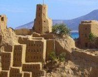 Castillo de arena en Kofounissia (Grecia)