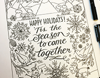 United Airlines Colour-In Christmas Card