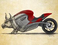 Bull + Ducatti = Bullcati