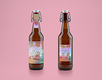 Lemon Hefeweizen beer labels