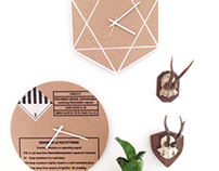 Cardboard clocks