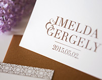 I&G wedding - invitation card design