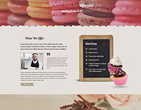 Cake shop HTML Template