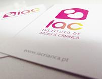 IAC - Instituto de Apoio à Criança . Branding