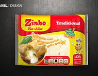 Embalagens 3D - Pão de Alho Zinho