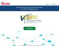 VHG and Gleim Landing Page