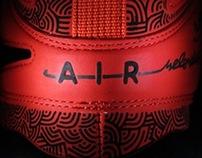 "Custom Nike Air Max Uptempo HOH ""Wave & ElephantPrint"""