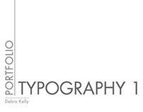 Typography 1 class mini portfolio.