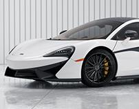 McLaren 570S White - CGI