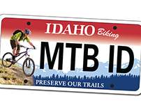 Mountain Bike Idaho Specialty License Plate