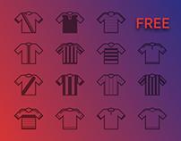 FREE Icon Set - Football Club Kits 15/16