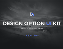 Design Option Headers UI KIT / FREE PSD
