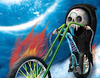 Calaveras en Bicicleta [Ilustración]
