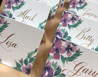 Custom design watercolor printed cards