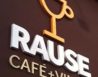 RAUSE KAFFE+VIN - Logo design