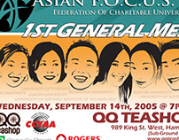 Asian F.O.C.U.S. | 1st General Meeting Poster