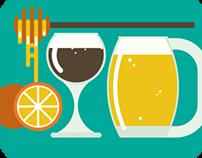 Summer drinks /illustrations/