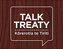 Talk Treaty exhibition stands and promotional material
