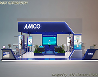 Exhibition stand for medical company AMICO .