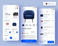Furniture - Ecommerce App design - (Freebie)