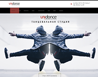 DANCE STUDIO. Web Design. Uni Dance. Almaty.