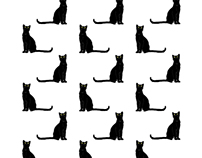 black cat pattern design
