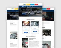Universal Detailing Website redesign