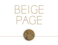 Beige page