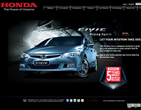 Web Design - Honda Malaysia