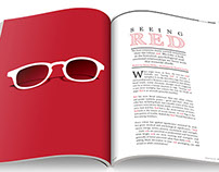 Double Page Spread Illustration   Seeing Red