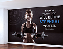 Gym wall design - Sir Winston Fitness