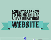 Schematics of how to bring in life a live breathing web