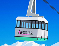 Avoriaz Ski Resort Poster