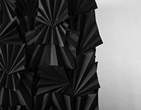 Black Wall - Folding paper wall