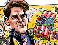 Mission Impossible 6 iPad caricature