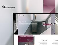 Cement UA Website Design