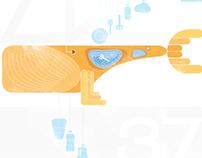 Plastic Waste - animation infographics motion graphics
