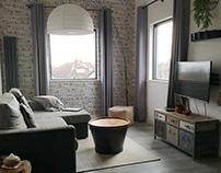 Industrial open living room