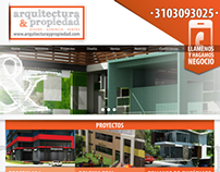 Arquitectura y Propiedad, diseño web.