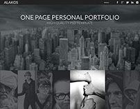Alakos One Page Portfolio