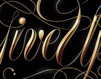 Bronzed Script