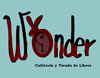 Logo Wonder, café con tema de Alice in Wonderland