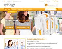 Epiology - Homepage Design