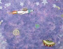 Child's Bedroom Mural & Border