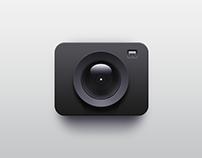 Skeumorphic Icon Practice #2: A Camera