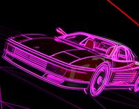 Retrowave Ferrari Testarossa