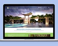 Senderos de Mayakoba, página web