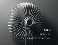 form minimal 3d poster design
