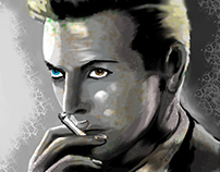 David Bowie Portrait - Digital Art by BluedarkArt