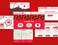 The strawberries website concept